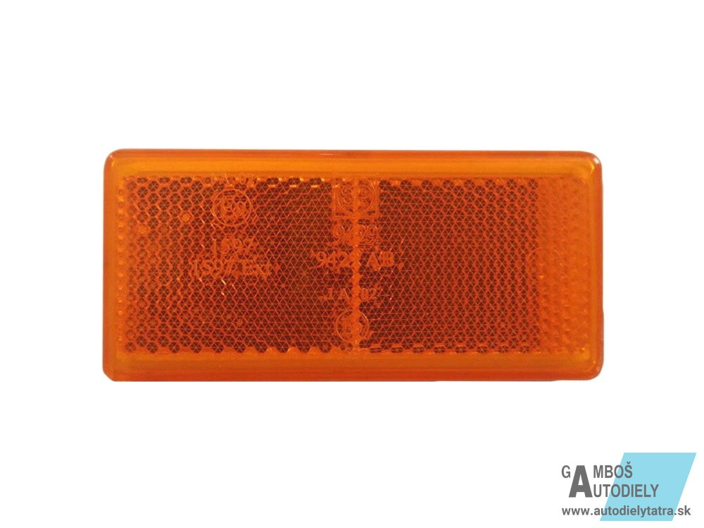 942902 Marker Reflector Sticker Orange Rectangular 94x44mm