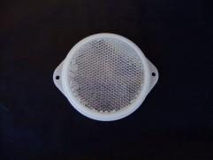 Odrazka biela kruhová s ušami fí 80mm (priemer reflexnej plochy)
