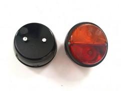 Zadné svetlo kruhové 2-dielne pravé bez osvetlenia ŠPZ (fí 135mm)