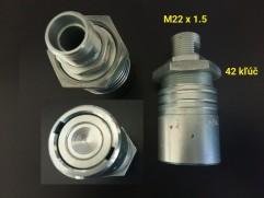 Rýchlospojka hydraulická - samica bajonet M22x1,5