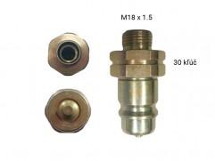 Rýchlospojka hydraulická - samec M18x1,5
