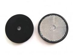 Odrazka biela kruhová fí 60mm (priemer reflexnej plochy)