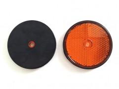 Odrazka oranžová kruhová fí 60mm (priemer reflexnej plochy)