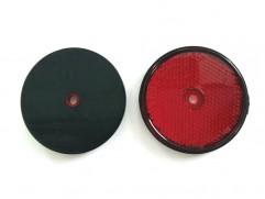 Odrazka červená kruhová fí 60mm (priemer reflexnej plochy)