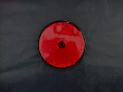 Odrazka červená kruhová fí 80mm (priemer reflexnej plochy)