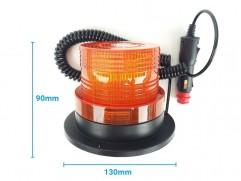 Maják 12/24V LED malý oranžový na magnet R65