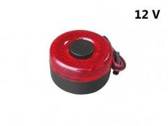Alarm cúvací s osvetlením 12V červený