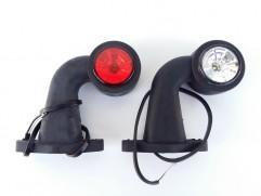 Svetlo obrysové LED (tykadlo) 12/24V bielo-červené krátke zahnuté