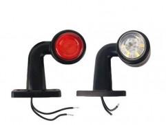 Svetlo obrysové 6 LED 12/24V malé zahnuté PL