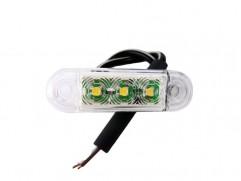 Pozičné svetlo 3 LED 65x19mm biele SERTPLAS