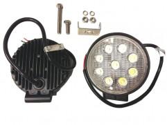 Svetlomet pracovný 9-LED L0076 12/24V 9x3W (27W) 9-32V 2200lm, fí 110mm
