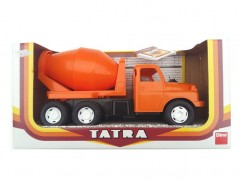 Children's plastic toy Tatra T148 mixer truck orange 30cm