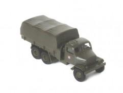Automodel Praga V3S valník s plachtou ASR, mierka: 1:87, výrobca: IGRA, farba: vojenská