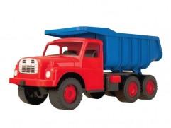 Detská plastová hračka Tatra T148 na piesok červeno-modrá