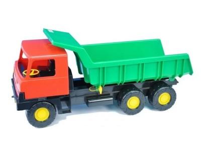 Detská plastová hračka Tatra T815 na piesok červeno-zelená