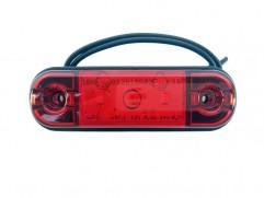 Pozičné svetlo 3 LED 83,8x24,2mm červené WAS W97.1