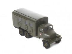 Car model Praga V3S box ASR, scale: 1:87, IGRA, color: army