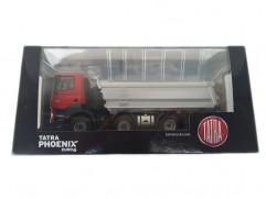 Automodel Tatra Phoenix EURO 6, mierka: 1:43, FOX toys, farba: červená kabína, strieborná korba