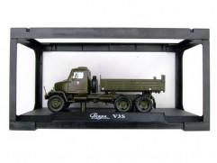 Car model Praga V3S tipper, scale: 1:43, Abrex, color: army