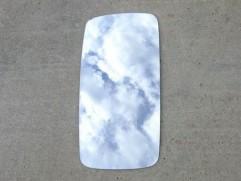 Sklo zrkadla Z-700 nevyhrievané CZ (výška: 396mm, šírka: 198mm)