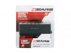Roztrojka zásuvky zapaľovača 3 + 1x USB 12/24V