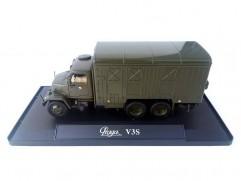 Car model Praga V3S box, scale: 1:43, Abrex, color: army