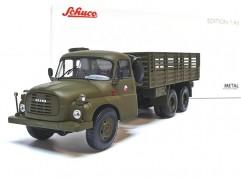 Car model Tatra T148 CSLA military flatbed, scale: 1:43, Schuco, color: military