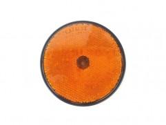 Odrazka oranžová kruhová fí 80mm (priemer reflexnej plochy)